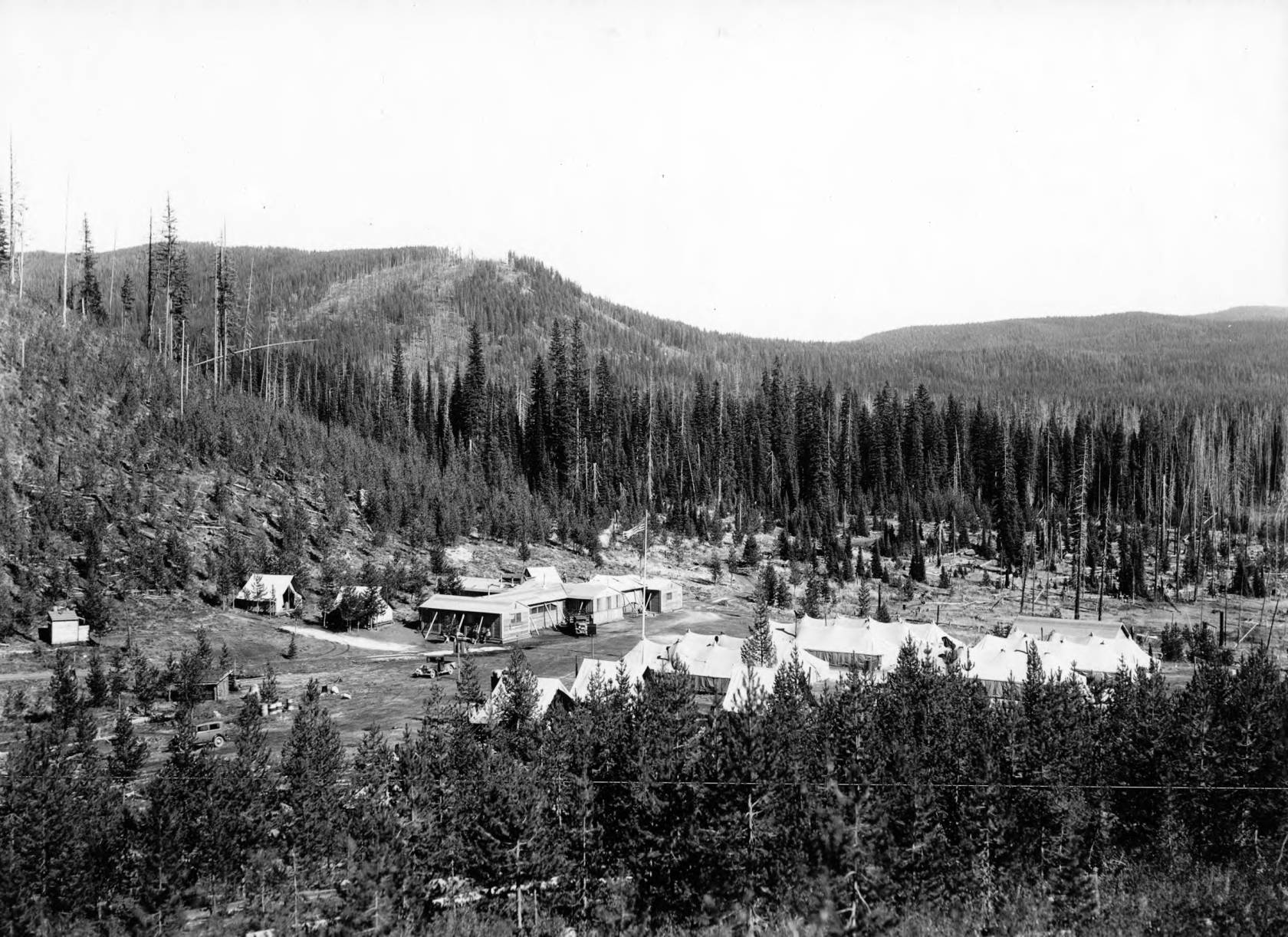 item thumbnail for View of CCC Camp at Packers Meadows