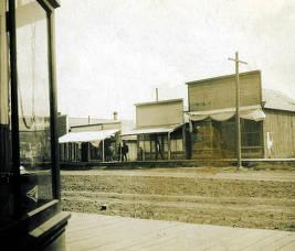 item thumbnail for Three unidentified store fronts. Nez Perce, Idaho.