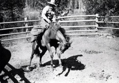 item thumbnail for Pick Ward rodeoing. Dixie, Idaho.