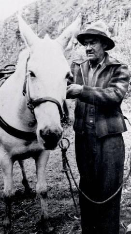 item thumbnail for Jim Rice and his mule Joe Gray. Near Dixie, Idaho.