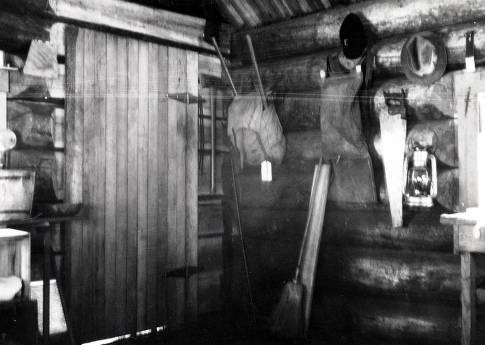 item thumbnail for Interior of Burpee Mountain Lookout cabin. Located 16 miles south of Elk City, Idaho.