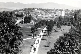 item thumbnail for Panoramic view from Administration Building of Moscow, Idaho.
