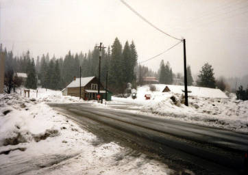 item thumbnail for Snowy street scene. Headquarters, Idaho.