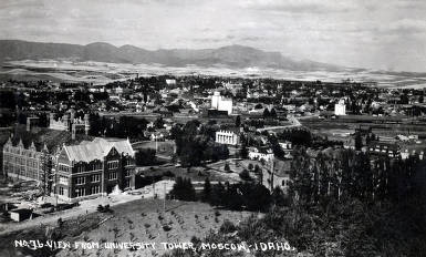item thumbnail for Panoramic view from University Tower of Moscow, Idaho.