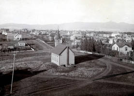 item thumbnail for Panoramic view of Moscow, Idaho looking northeast.