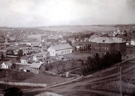 item thumbnail for Panoramic view of Moscow, Idaho. Taken from the Courthouse hill looking north by northwest.