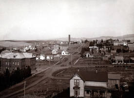 item thumbnail for Panoramic view of Moscow, Idaho. Taken from Van Buren Street looking north from about 4th Street.