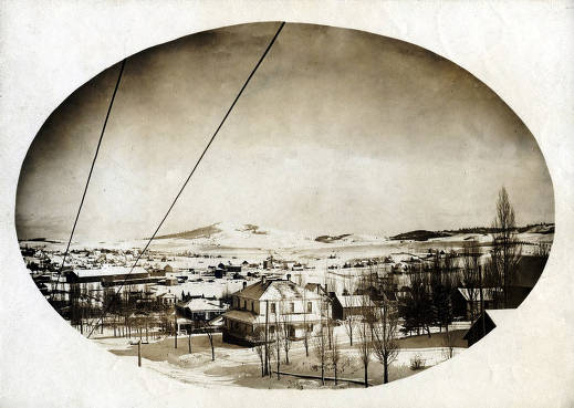item thumbnail for Panoramic view of Moscow, Idaho. Snow scene.