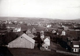 item thumbnail for Panoramic view of Moscow, Idaho looking east.