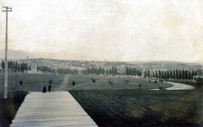 item thumbnail for Panoramic view of Moscow, Idaho taken from the steps of old Administration Building.