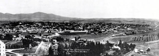 item thumbnail for Panoramic view of Moscow, Idaho from University Hill.