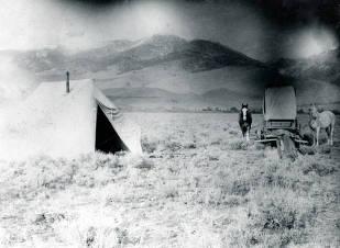 item thumbnail for Sheepherders' Camp? Challis, Idaho.