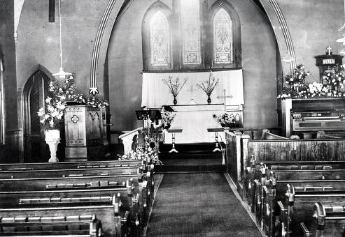 item thumbnail for St. Mark's Episcopal Church (1891-1937), First and Jefferson Streets. Interior view. Moscow, Idaho.