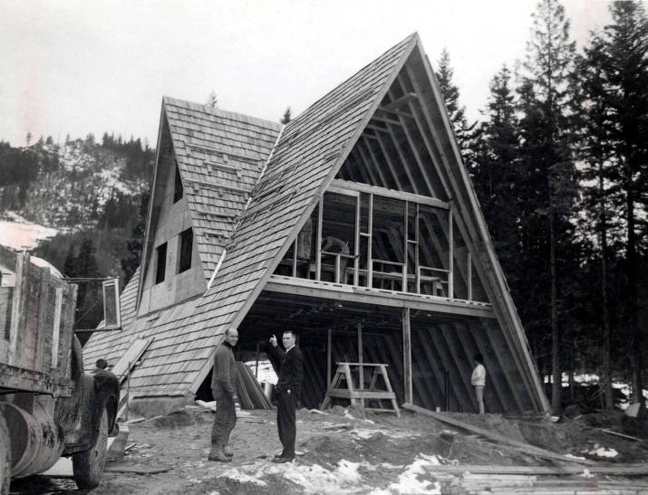 item thumbnail for Moscow Mountain ski area lodge near completion. Moscow, Idaho