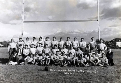 item thumbnail for Group picture of Moscow High School football team.