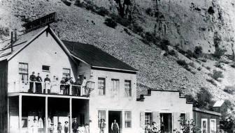 item thumbnail for Nevada Hotel in foreground. Bayhorse, Idaho.