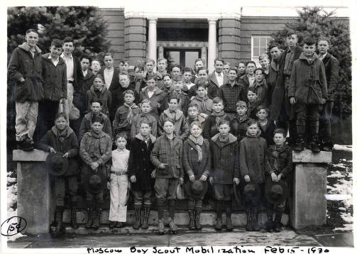item thumbnail for Group picture of Boy Scout Mobilization. Moscow, Idaho.