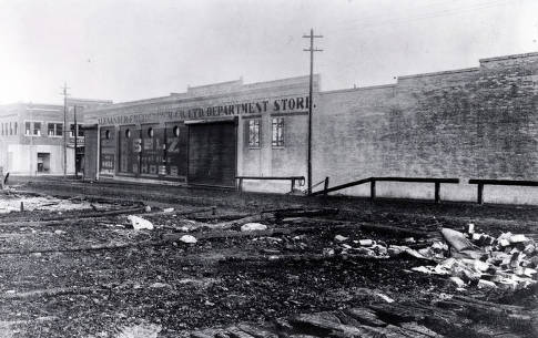 item thumbnail for Destruction caused by fire and Alexander-Friedenbach Co. Ltd. Department Store. Grangeville, Idaho.