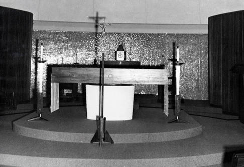 item thumbnail for St. Augustine's Catholic Church. Interior showing altar. Moscow, Idaho.