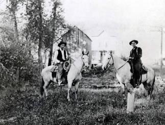 item thumbnail for Hay hands, Mr. Merryman and Fred Lyons. Ferrel, Idaho.