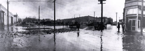 item thumbnail for Main Street after flood caused by cloudburst. Grangeville, Idaho.