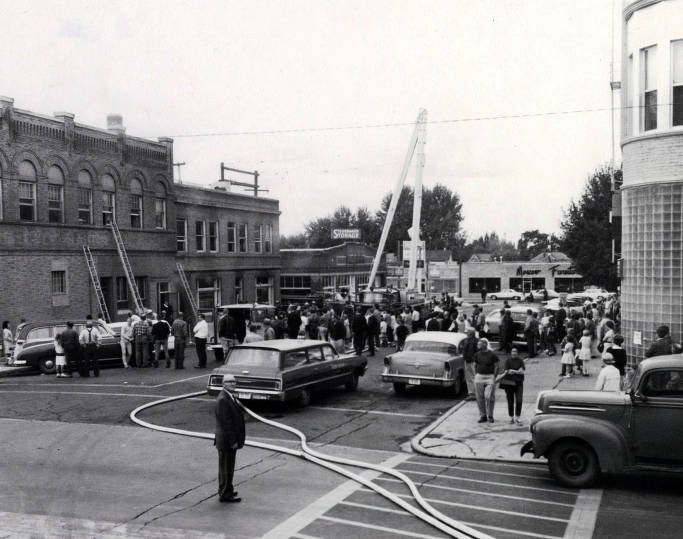 item thumbnail for Copy print of General Telephone Company fire. Moscow, Idaho.
