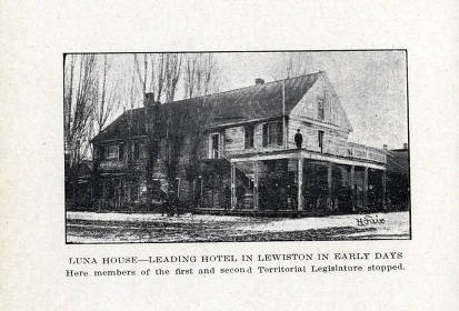 item thumbnail for Copy print from book of Luna House. Hotel in Lewiston, Idaho.