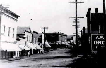 item thumbnail for Main Street. Harrison, Idaho. Davis and Schuster Dry Goods store is middle left.