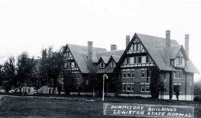 item thumbnail for Dormitory buildings. Lewiston State Normal School. Lewiston, Idaho.
