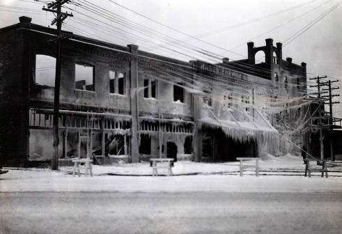 item thumbnail for View of C. Weisgerber Brewery shortly after the fire. Lewiston, Idaho.