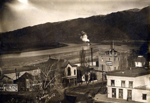 item thumbnail for Birdseye view of C. Weisgerber Brewery and Wite Bros. Fruit. Lewiston, Idaho.