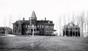 item thumbnail for Albion State Normal School. Old Administration Building and Miller Hall. Albion, Idaho.
