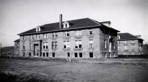 item thumbnail for Albion State Normal School. West side of new dorm. Albion, Idaho.
