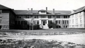item thumbnail for Albion State Normal School. South entrance of new dorm. Albion, Idaho.