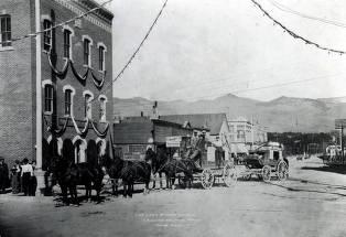 item thumbnail for Last stagecoach leaving Salmon, Idaho.
