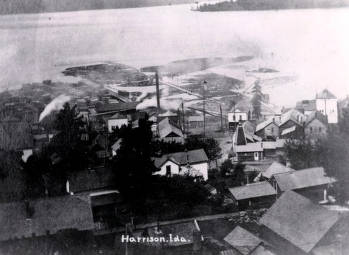 item thumbnail for Aerial view of Harrison, Idaho looking west.