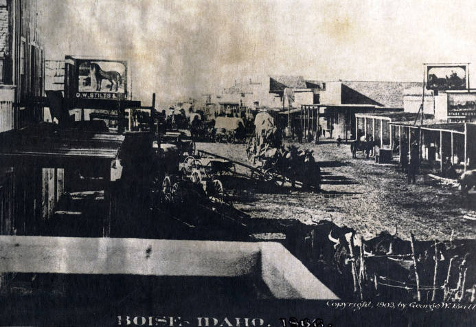 item thumbnail for Business section. Boise City, Idaho Territory.
