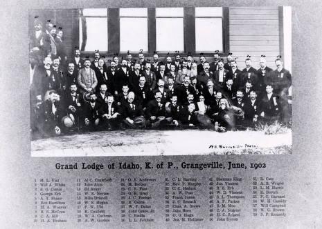item thumbnail for Knights of Pythias, Grand Lodge of Idaho. Grangeville, Idaho.