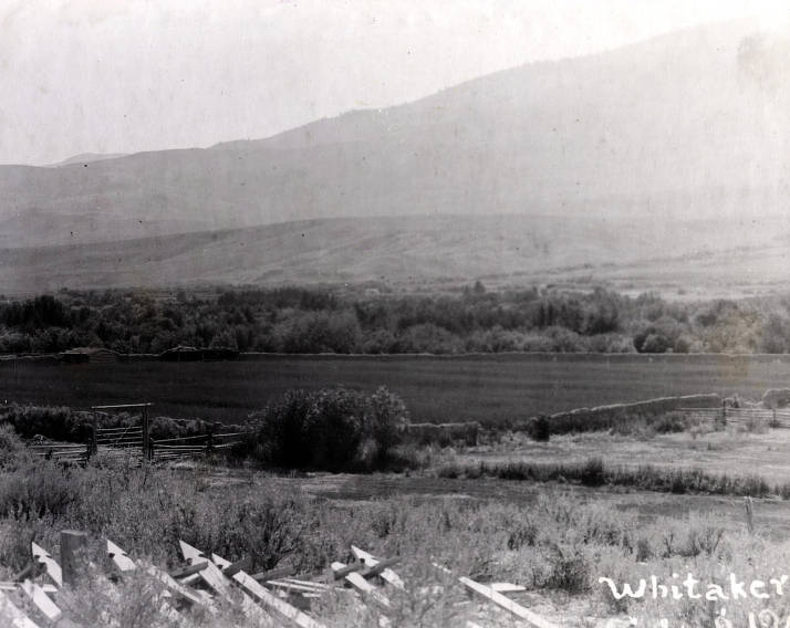 item thumbnail for Panoramic view of Lemhi Valley showing remains of Fort Lemhi. Idaho.