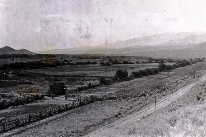 item thumbnail for Panoramic view of Lemhi Valley looking northwest. Idaho.