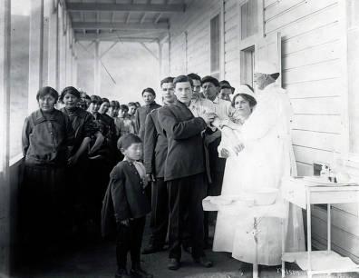 item thumbnail for Vaccination time. Fort Lapwai Indian Sanitarium. Idaho.