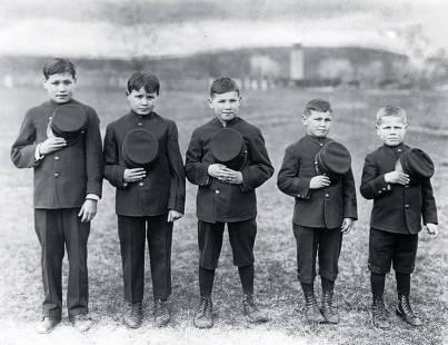 item thumbnail for Five young boys. Fort Lapwai Indian Sanitarium. Idaho.