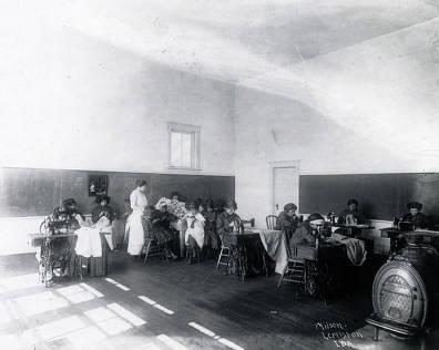 item thumbnail for Sewing class. Fort Lapwai Indian Sanitarium. Idaho.