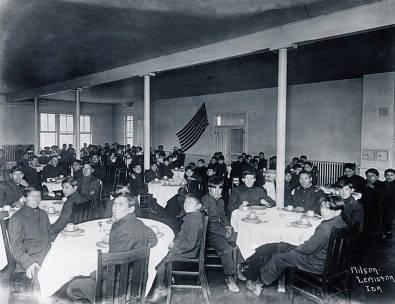 item thumbnail for In the dining room. Fort Lapwai Indian Sanitarium. Idaho.