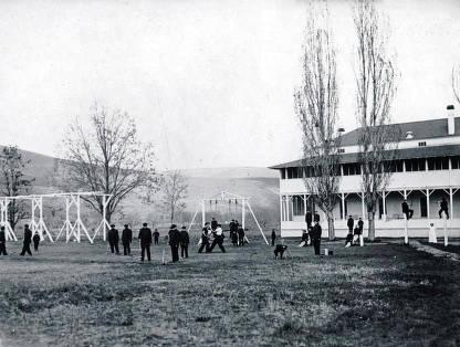 item thumbnail for On the playground. Fort Lapwai Indian Sanitarium. Idaho.