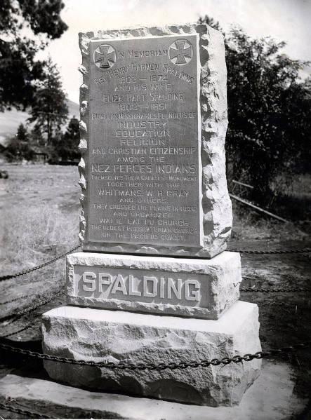 item thumbnail for Reverend Henry Harmon Spalding and Eliza Hart Spalding memorial. Lapwai, Idaho.