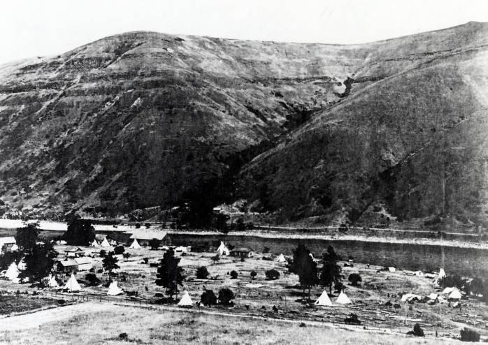 item thumbnail for Panoramic view of Spalding, Idaho.