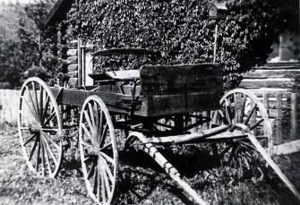 item thumbnail for Mr. and Mrs. Harry Miller's buggy. St. Joe, Idaho.