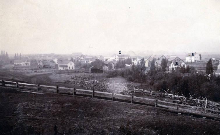 item thumbnail for Panoramic view of Grangeville, Idaho.