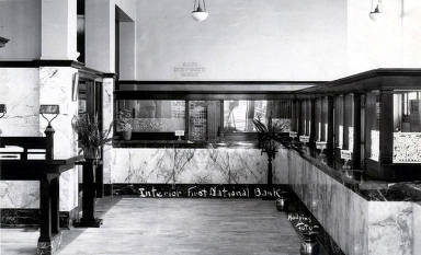 item thumbnail for Interior view of First National Bank. Moscow, Idaho.